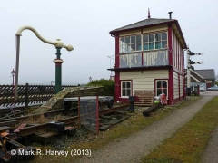 Settle Station Signal Box (current position): Context view from the south-east