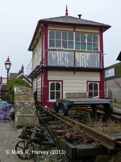 Settle Station Signal Box (current position): South elevation