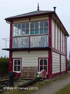 Settle Station Signal Box (current position): South-east elevation