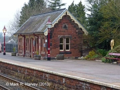 Appleby Station Waiting Room (Up): Context view from the south