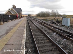 Ribblehead Station: context view from the northwest end of the 'Up' platform
