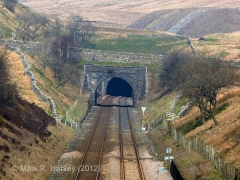 Spoil Tip for Blea Moor Tunnel, shaft A: Context view from the south