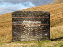 Blea Moor Tunnel Air Shaft 1: Elevation view from the south