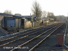Settle Station Signal Box (current position): Context view to the south-west