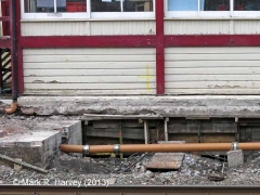 Garsdale Signal Box: Foundations exposed during repair-works