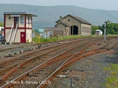 Southern approach to Kirkby Stephen Station viewed from the north-west (3)