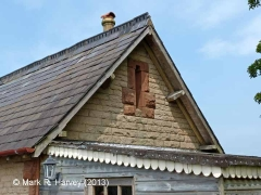 New Biggin Station Yard Office: South-east gable detail