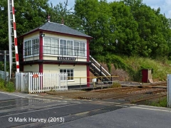 Culgaith Signalbox Lamp Hut: Context view from the north-west