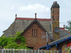 Culgaith Station Booking Office: South-east elevation gable & roof detail