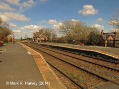 Horton-in-Ribblesdale Passenger Platform (Up): Context view from the south-west