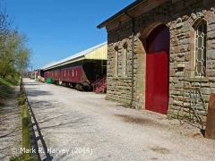 Appleby Station Goods Shed: Context view from the south