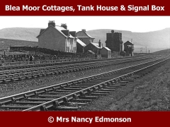 Blea Moor Signal Box and Railway Workers' Cottages: Context view from the north