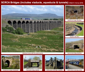 Photo-montage showing a representative selection of bridges located within the SCRCA.