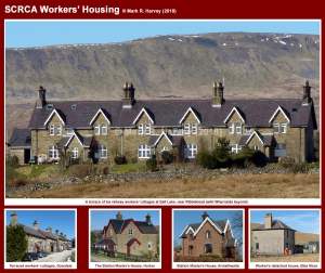 Photo-montage showing a representative selection of workers' housing located within the SCRCA.