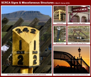 Photo-montage showing a representative selection of signs and miscellaneous items located within the SCRCA.