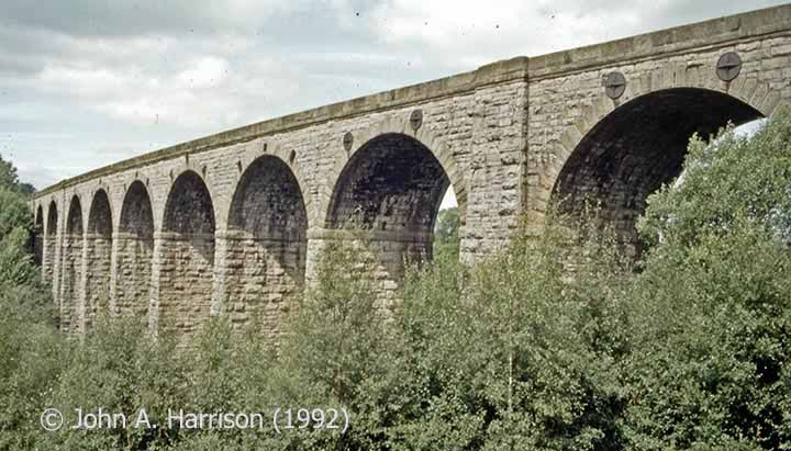 Smardale Viaduct (Bridge SAC/193): elevation view from the south.