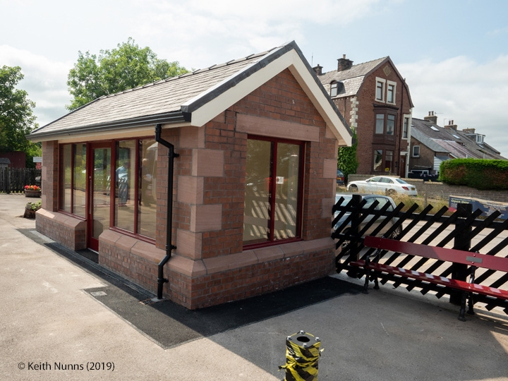 277235: Appleby Station - Waiting Room (Down): Elevation view from the North East