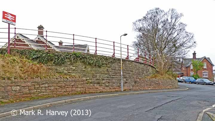 Appleby Station Drive Retaining Wall from the northwest.