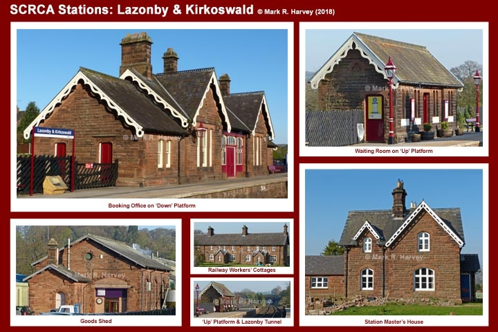 Photo-montage for Lazonby & Kirkoswald Station.