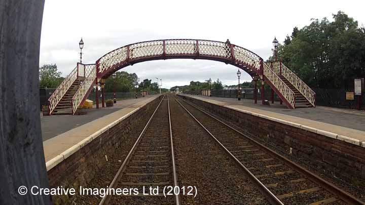 277280: Bridge 236A - Appleby Station footbridge: Cab-view video still
