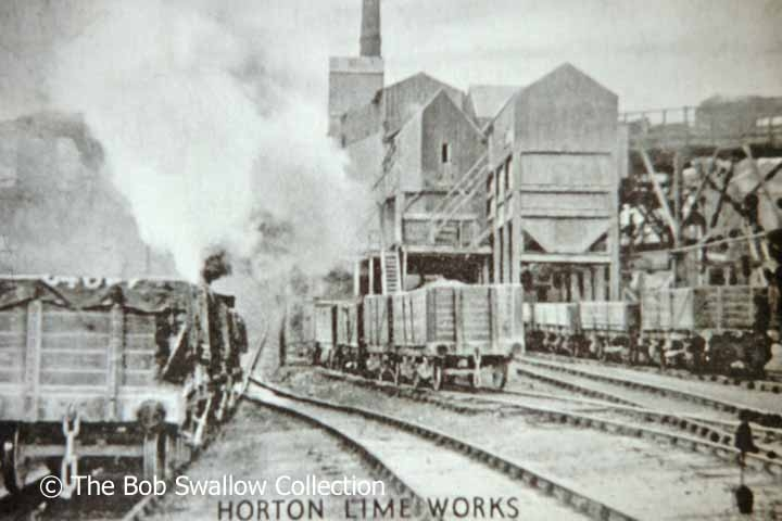 Mineral wagons in Horton Lime Works (Delaneys Sidings): viewed from northeast