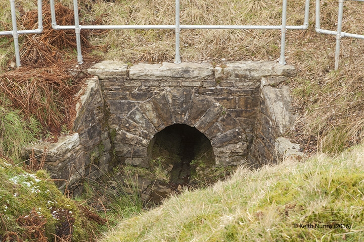 "255040: Culvert (3' 0"" diameter): Detail view from the east"