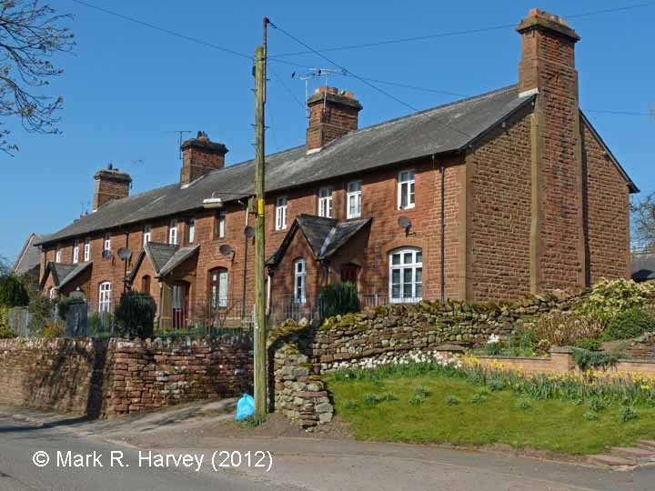 Langwathby Railway Cottages: South-west elevation view