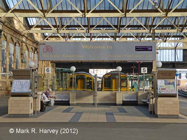 Carlisle Citadel Station: The new waiting area for platforms 5 & 6