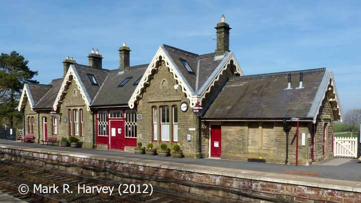 Kirkby Stephen Station Booking Office, viewed from the southwest