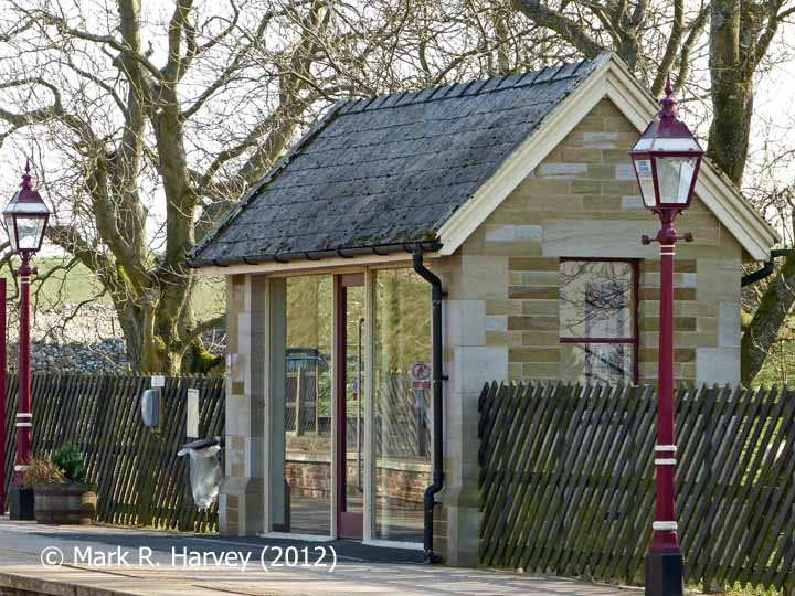 Kirkby Stephen Station Waiting Shelter: North elevation view