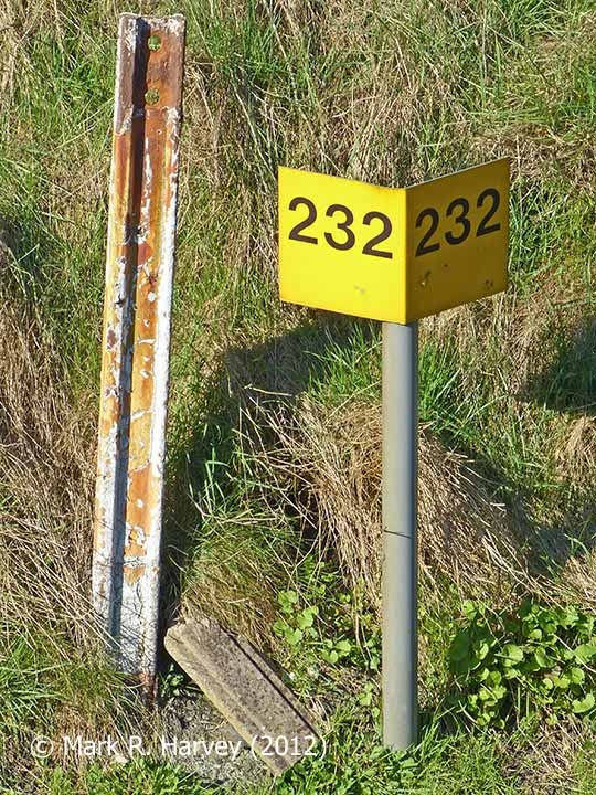Milepost 232, viewed from the southwest