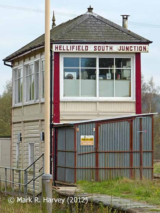 Hellifield South Junction Signal Box viewed from the northwest