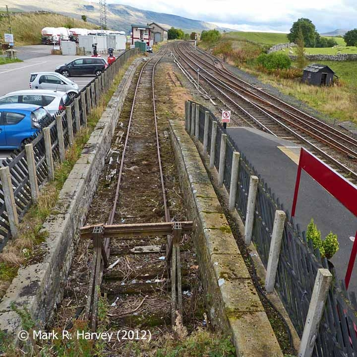 The cattle dock, former goods yard and southern approaches to Kirkby Stephen