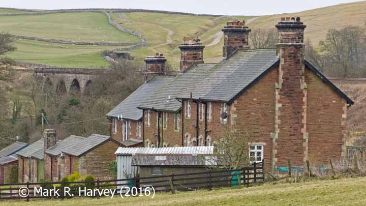 Crosby Garrett Viaduct and Railway Cottages: Context view from north-northeast
