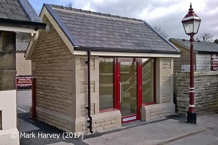 Settle Station Waiting Room (Up): Northwest elevation view
